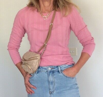AU29.95 • Buy Country Road Womens Pink Rib Top Size XS