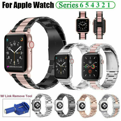 AU16.99 • Buy Stainless Steel Wrist Watch Band Strap For Apple Watch IWatch Series 6 5 4 3 SE
