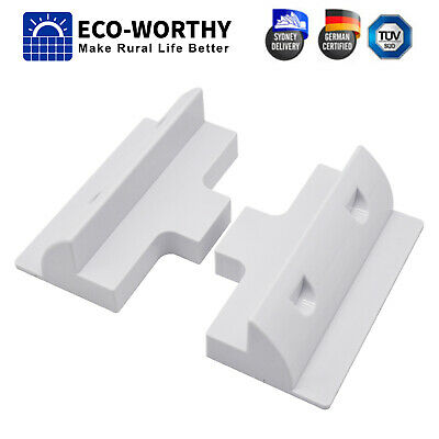 AU13.99 • Buy 2pcs Side Solar Panel White Mounting ABS Bracket For RV Home Roof Camp Boat