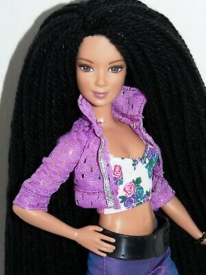 OOAK BARBIE FASHIONISTAS PETITE DOLL With RE-ROOTED HAIR • 25£