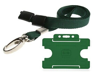 Green First Aid Lanyard Neck Strap WITH BREAKAWAY AND CARD HOLDER St Johns. • 2.09£