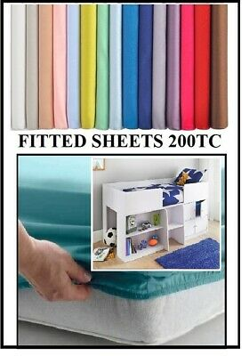 CABIN BED FITTED SHEET IKEA ARGOS VARIOUS DEPTHS  (90cm X 160cm)  36  X 63  • 10.99£