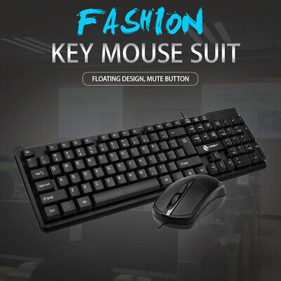 Usb Wired Stylish Slim Qwerty Keyboard Layout For Pc Desktop Computer Laptop • 12.99£