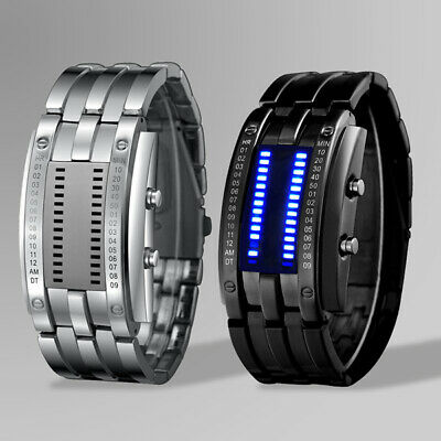 SKMEI Stainless Steel Fashionable Glass Dial LED Watch With Warranty Card & Box • 26.99£