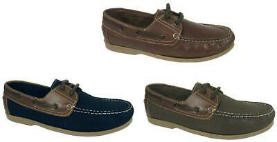 Seafarer Yachtsman Leather Boat Deck Shoes Sizes 7-12 • 34.99£