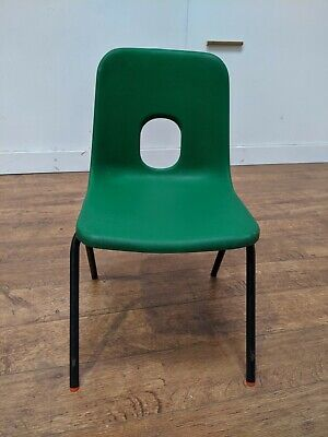 £4 • Buy Hille Green Heavy Duty Plastic Polypropylene School Canteen Stacking Chair
