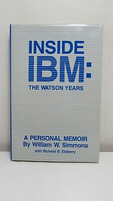 Simmons & Elsberry: Inside IBM, The Watson Years, Dorrance, W Signed Letter • 39.34£