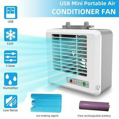 AU26.49 • Buy Mini Portable USB Air Conditioner Air Cooler Small Personal Desk Cooling Fan