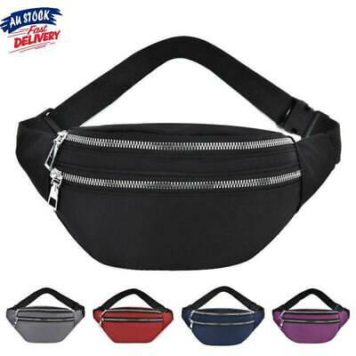 AU12.68 • Buy Bum Bag Fanny Pack Travel Waist Festival Money Belt Oxford Pouch Wallet AU