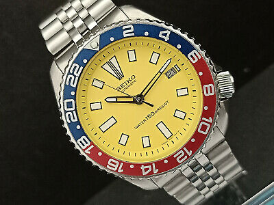 $ CDN204.47 • Buy Seiko Diver 7002-7000 Yellow Face Mod Automatic Mens Watch 543167