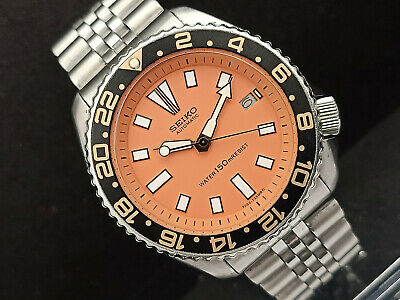 $ CDN152.18 • Buy Seiko Diver 7002-7001 Orange Face Mod Automatic Mens Watch 270039