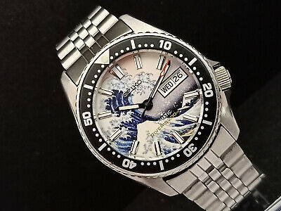 $ CDN177.66 • Buy Seiko Scuba Diver 7s26-0030 The Great Wave Of Kanagawa Automatic Watch 706124
