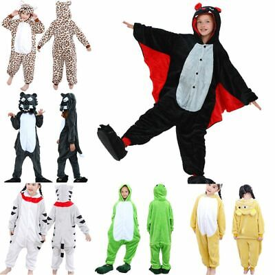 Kids Animal Costumes Hooded Fancy Dress Party Unisex Outfit Pajamas Cosplay Soft • 9.88£