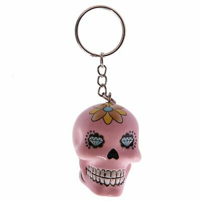 Fun Novelty Day Of The Dead Candy Skull Keyring Key Chain • 3.89£
