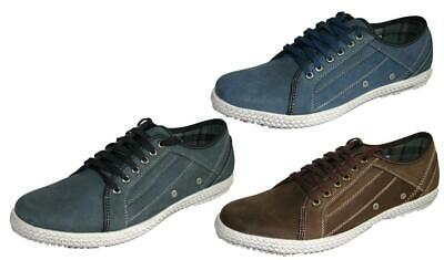 Yachtsman Casual Trainer Style Suede Leather Boat Sailing Deck Shoes Sizes 7-11 • 24.99£