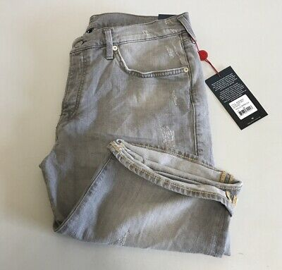 TRUE RELIGION Slate Grey Denim Rocco Shorts W36 {R80} • 55£