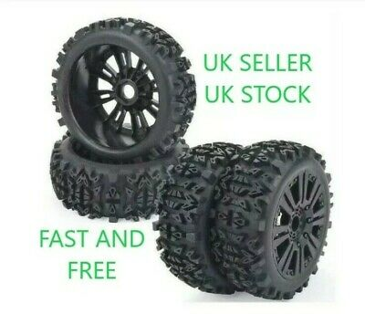 😀uk Rc 1/8 Scale Car Buggy Wheels Rims & Tyres Tires Hsp Hpi Hobao😀 • 30.98£