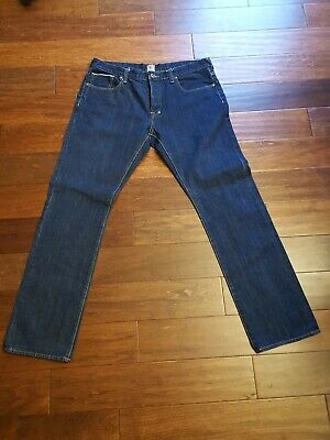 PRPS DEMON RAW SELVEDGE SALVAGE JEAN BUTTON FLY MENS SIZE 36 X 32 EUC • 85.82£
