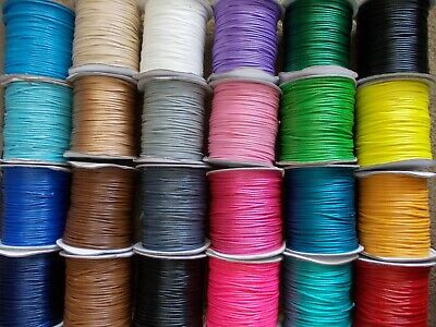 £2.99 • Buy 10 METRES JEWELLERY STRING FOR MAKING NECKLACE,BRACELET,2.0mm Waxed Cord
