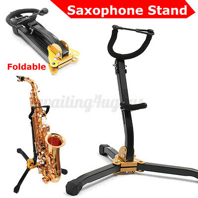 Saxophone Stand Sax Alto Tenor Music Folding Tripod Holder Foldable Musical G • 11.59£