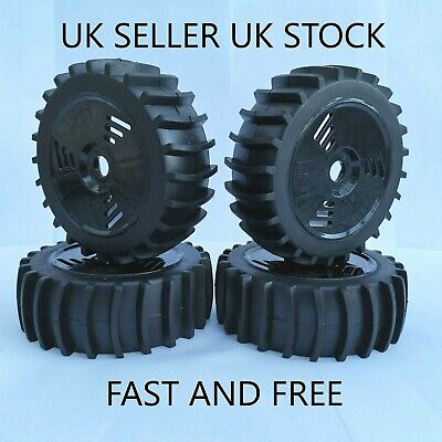 😀1/8 Scale Rc Car Buggy Sand/snow Paddle Wheels & Tyres Tires Hsp Hpi Hobao😀 • 24.99£