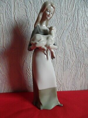 $ CDN49.45 • Buy 1960, Vintage Porcelain Figurine, Germany.  The Girl With The Kid , Grafenthal.