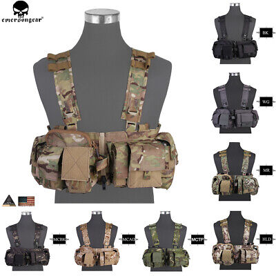 £90.95 • Buy Emerson Tactical UW Chest Rig Split Front Gen Hunting Carrier H Strap Pouch Bag