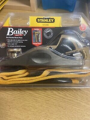 Stanley  150mm 601/2 Fully Adjustable Low Angle Block Plane With Pouch 5 12 060 • 35£