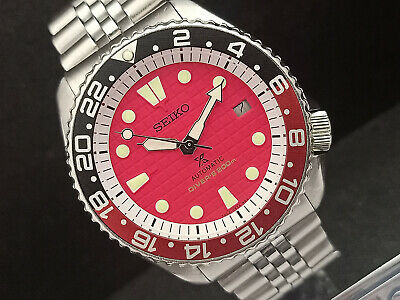$ CDN128.72 • Buy Vintage Seiko Diver 7002-7000 Red Waffle Mod Automatic Mens Watch 001544