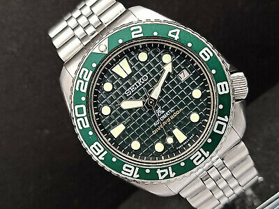 $ CDN60.34 • Buy Seiko Diver 6309-7290 Military Green Waffle Mod Automatic Mens Watch 812278