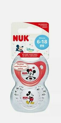 AU10.50 • Buy Nuk - Disney Mickey Mouse Silicone Soother 0-6 Months 2 Pack