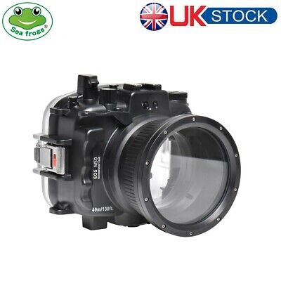Seafrogs 40m/130ft Underwater Case Camera Housing For Canon EOS M50 18-55mm • 329£