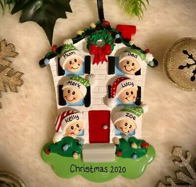 Personalised Family Christmas Tree Decoration Gift 2-6 People Lockdown 2020 • 9.95£
