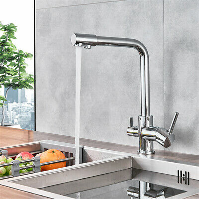 £48 • Buy 3 In 1 Chrome Kitchen Sink Faucet Waterfilter Tap Mixer Drinking Water Taps UK