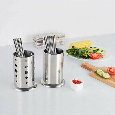 AU13.50 • Buy Cutlery Holder Caddy Pot Utensil Kitchen Stainless Steel Drainer Conical Stand