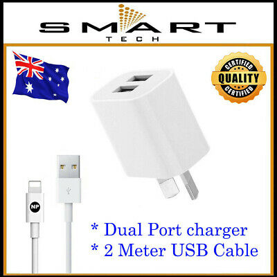 AU8.95 • Buy AC Wall Charger Adapter For Apple IPhone 5 6 7 Plus 8 XS Max XR 11 Pro 2M Cable