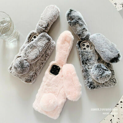 Cute Rabbit Fur Plush Fuzzy Fluffy Case Cover For IPhone 11 Pro Max 8 Plus 7 6S  • 5.36£