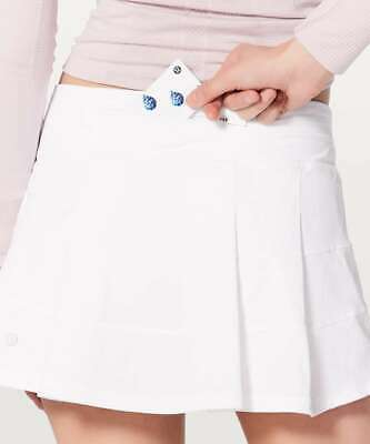 $ CDN112.91 • Buy NWOT - Lululemon Pace Rival Skirt Regular 4-way Stretch 13  White 2,4,6,8,10,12