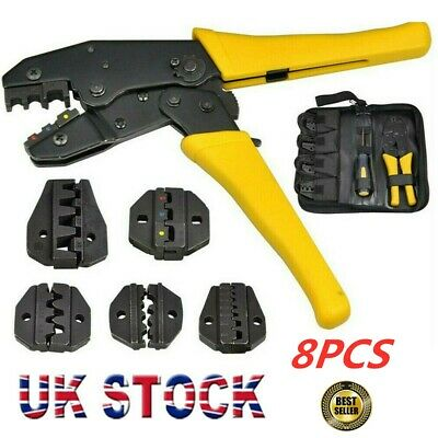 Insulated Cable Connector Terminal Ratchet Crimping Wire Crimper Plier Tool  • 15.29£