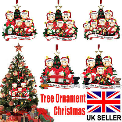 Christmas Tree Ornament 2020 Quarantine Family Xmas Lockdown Decoration Preorder • 4.29£