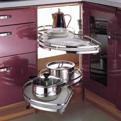 £129.95 • Buy 900-1000 Mm Blind Cabinet Twin Corner Pull Out Shelving Unit For Kitchen Storage
