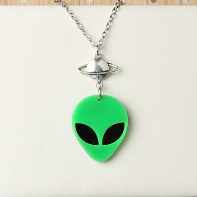 £3.50 • Buy  Alien & Planet Chain  Pendant Necklace With Gift Bag