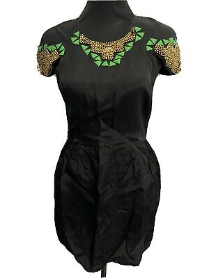AU45 • Buy Alice McCall - Black Beaded Dress - Size 10