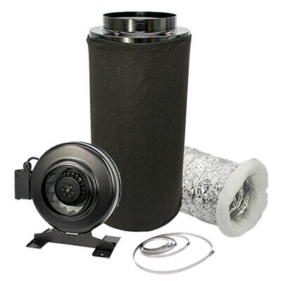 £175.50 • Buy Carbon Filter Inline Fan Kit Duct Hydroponic Ventilation Extractor 8  Grow Room