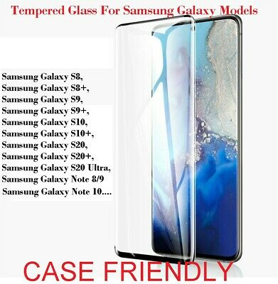 $ CDN4.62 • Buy For Samsung Galaxy S8 S10 S20 S21+ Ultra FE 5G Tempered Glass Screen Protector