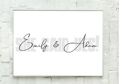 A4 Personalised Engagement Gift Present She Said Yes Wallart  - Unframed • 4.50£