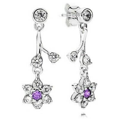 AUTHENTIC-GENUINE PANDORA Forget Me Not  Drop Earrings 290691ACZ • 16.99£