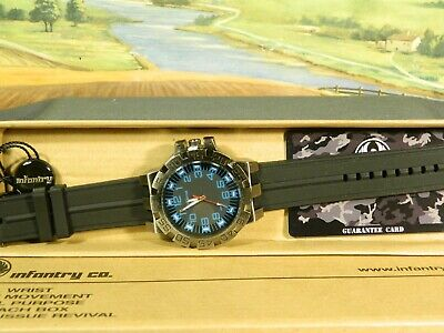 Men's Watch Infantry Watch Co. IF-008-BLU-R  INFILTRATOR  BLUE, RUBBER BAND • 5.16£