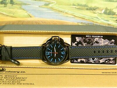 Men's Watch Infantry Watch Co. IF-010-BLU-R  INFILTRATOR  BLUE, RUBBER BAND • 5.16£