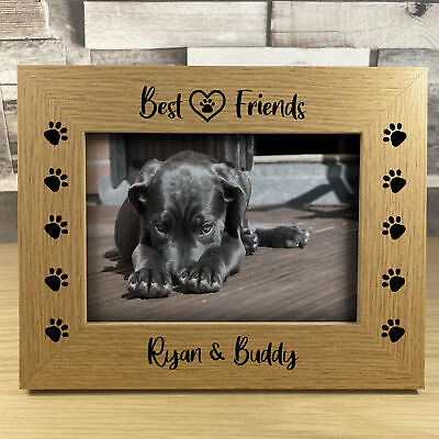 £7.99 • Buy Gift For Family PERSONALISED Photo Frame For PET Dog Cat Best Friend Gift